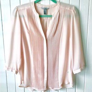 H&M Soft Pink Blouse